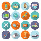 picture of gps  - Navigation flat icons set with satellite - JPG