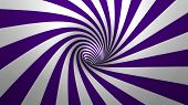 foto of hypnotic  - Hypnotic spiral or swirl making purple and white background in 3D - JPG