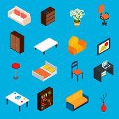 Isometric Interior Icons