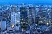 Sao Paulo cityscape in night time