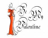 Vintage be my valentine greeting card
