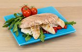 pic of pita  - Pita with ruccola and grilled chicken breast - JPG