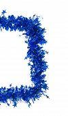 Christmas blue tinsel