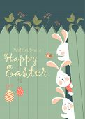 pic of grass bird  - Easter bunnies and easter eggs - JPG