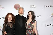 LOS ANGELES - FEB 14:  Rick Baker, wife, daughter at the 2015 Make-up and Hair Stylists Guild Awards at a Paramount Theater on February 14, 2015 in Los Angeles, CA