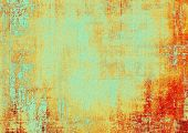 Old grunge antique texture. With different color patterns: yellow (beige); cyan; red (orange)