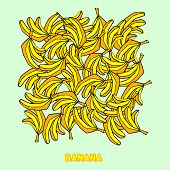 picture of banana  - bananas seamless pattern background - JPG