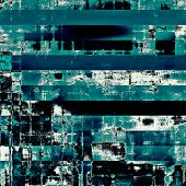 Retro background with old grunge texture. With different color patterns: blue; cyan; black