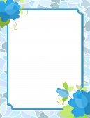 picture of corazon  - frame with flowers roses - JPG