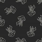 pic of jellyfish  - Jellyfish Doodle - JPG