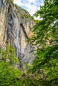 foto of waterfalls  - Skaklya is the highest waterfall on Balkan Peninsula - 141 meters. Skaklya is intermittent flowing waterfall - only during snow melt in spring and rains. Located nearly the town of Vratsa Bulgaria. ** Note: Soft Focus at 100%, best at smaller sizes - JPG