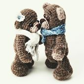 picture of teddy  - Teddy bears family in classic vintage style on white background - JPG