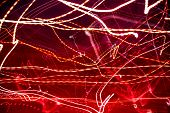 picture of laser beam  - Horizontal view of abstract red laser lights - JPG