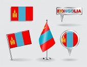 foto of mongolian  - Set of Mongolian pin - JPG