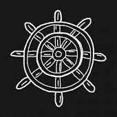 image of rudder  - Rudder Doodle - JPG