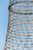 picture of fragmentation  - Fragment of the Shukhov radio tower also known as the Shabolovka tower is a broadcasting tower in Moscow designed by Vladimir Shukhov in the period 1922 - JPG