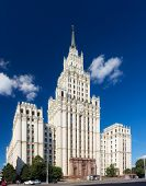 stock photo of gate  - The Red Gate Building is one of seven Stalinist skyscrapers designed by Alexey Dushkin - JPG