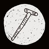 image of crutch  - Crutch Doodle - JPG