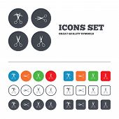 foto of tailoring  - Scissors icons - JPG