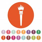 image of torches  - The torch icon - JPG