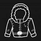stock photo of overcoats  - Overcoat Doodle - JPG