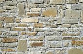 picture of tile cladding  - New stone cladding plates on the wall closeup - JPG
