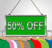 ������, ������: Fifty Percent Off Shows Half Price And Advertisement