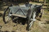 Grey wood cart