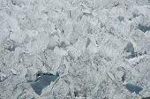 Lake on the glacier in Cordilleras mountain