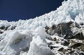 High glacier in the Cordilleras mountain