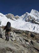 Going mountaineer on the  Alpamayo peak