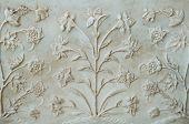 Marbles ornament in Taj Mahal palace
