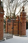 Mansion Gate In The Winter