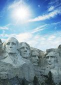 stock photo of mount rushmore national memorial  - rushmore memorial - JPG