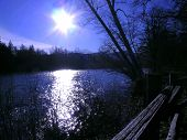 Split Rail Fence Along The River