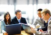 stock photo of business meetings  - Business meeting  - JPG