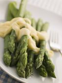 Hot Asparagus Hollandaise