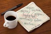 stock photo of goal setting  - SMARTER acronym  - JPG
