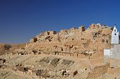 Troglodytic village in the Sahara desert