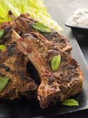 pic of raita  - Spiced Lamb Chops with Raita  - JPG