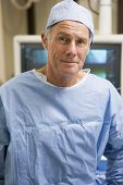 Portrait Of Surgeon In Surgical Scrubs