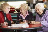 Постер, плакат: Старший женщины вместе пить чай