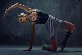picture of ballet dancer  - Attractive modern ballet dancer - JPG