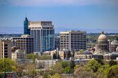 Downtown Cityscape Of Boise, Idaho In The Spring poster