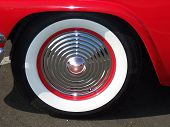 Red White Wall Crome Tire