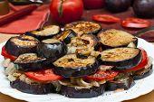 Eggplant, Mushrooms, Tomatoes