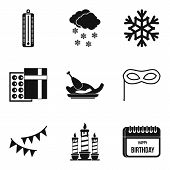 Cold Journey Icons Set. Simple Set Of 9 Cold Journey Vector Icons For Web Isolated On White Backgrou poster
