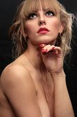 Fashion Portrait Of The Beautiful Naked