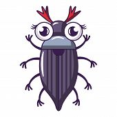 May Bug Icon. Cartoon Illustration Of May Bug Vector Icon For Web poster