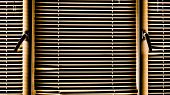 Yellow Window Blinds On A Sunny Day. Background Of Blinds poster